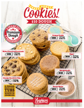 10 Dollar Doughs - Cookie Dough Fundraising Brochures