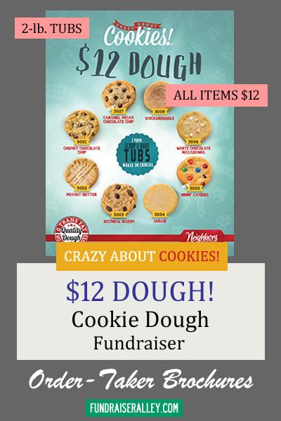 12 Dollar Cookie Dough Tubs Fundraiser
