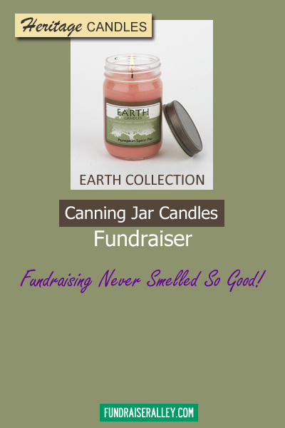 Heritage Earth Collection Canning Jar Candles - Fundraising Never Smelled So Good!