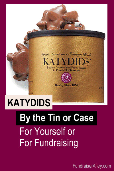 Katydids Candy by the tin or case, for yourself or for fundraising