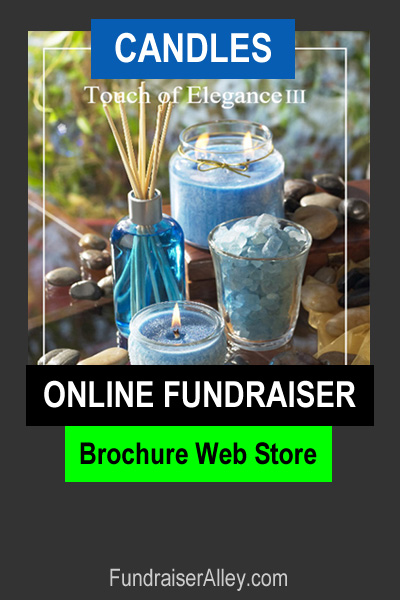 Candles Online Fundraiser with Brochure Web Store