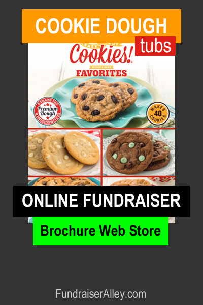 Cookie Dough Tubs Online Fundraiser with Brochure Web Store