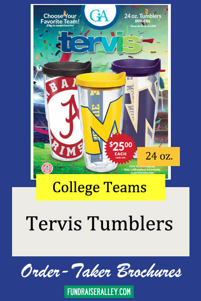 24oz Tervis Sports Tumblers Order-Taker Fundraiser