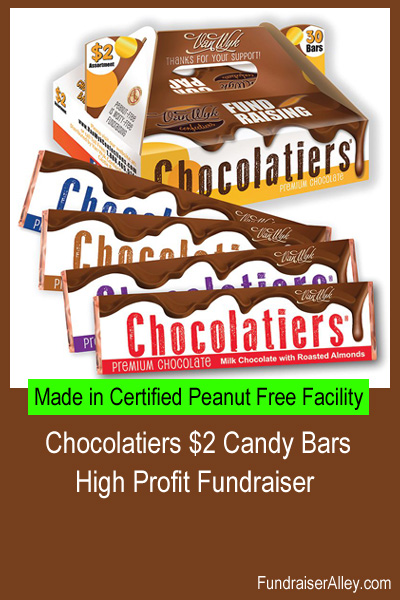 Chocolatiers Candy Bars Are a High Profit Fundraiser