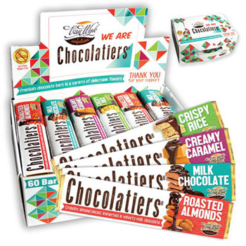 Personalized Chocolatiers Candy Bars for Fundraising