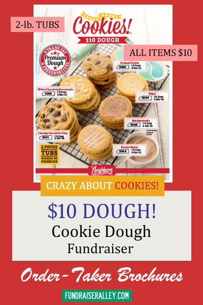 10 Dollar Cookie Dough Tubs Fundraiser