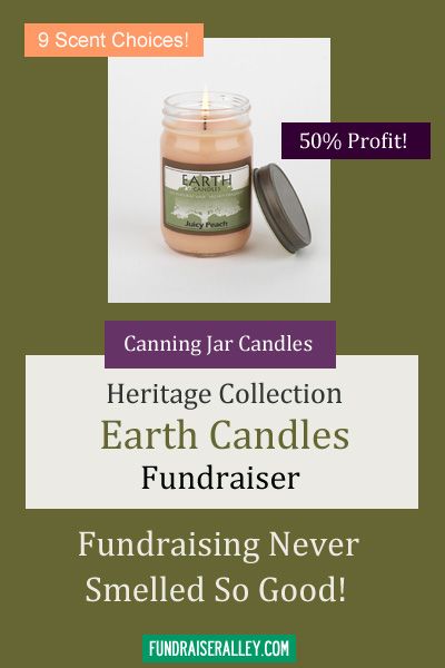 Canning Jar Candles for Fundraising - Heritage Collection, Earth Candles