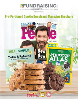 Magazines and Preportioned Cookie Dough Fundraiser