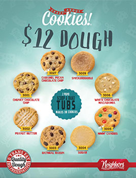 12 Dollar Doughs - Cookie Dough Fundraising Brochures