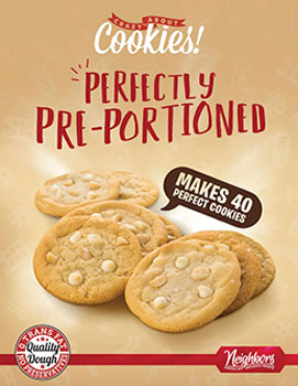 Preportioned Cookie Dough Fundraising Brochures