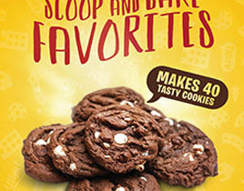 Scoop and Bake Cookie Dough Tubs Fundraising Brochures