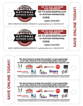 National Savings Card for Fundraising