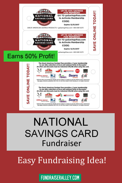 National Savings Card Fundraiser