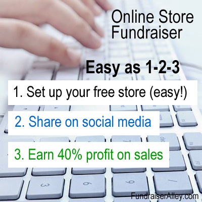 Online Store Fundraiser - Easy as 1-2-3