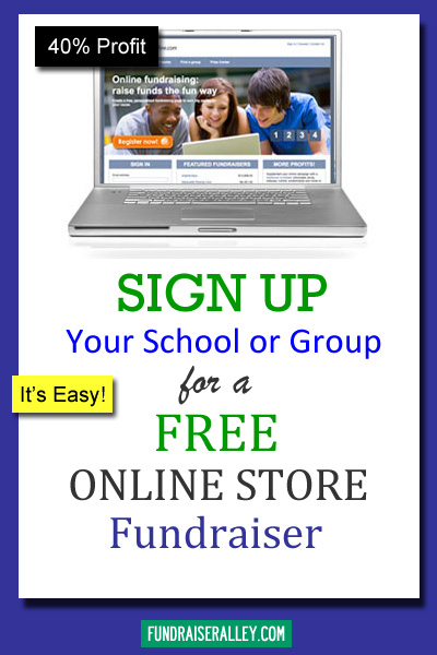 Sign Up for Free Online Store Fundraiser