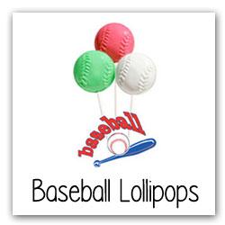Baseball Lollipops for Fundraising