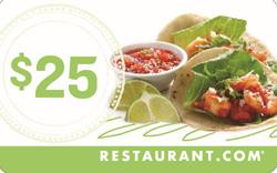 25 Dollar Restaurant Card