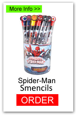Spider-Man Smencils for Fundraising