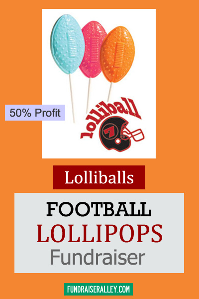 Football Shape Lollipops for Fundraising