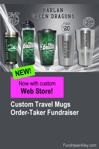 Custom Tumbler Fundraiser with Web Store