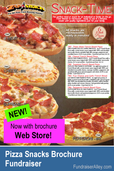 Zap-a-Snack Pizza Snacks Fundraiser with Web Store