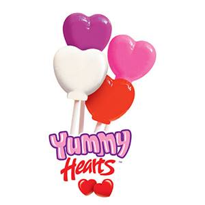 Yummy Hearts Lollipops for Fundraising