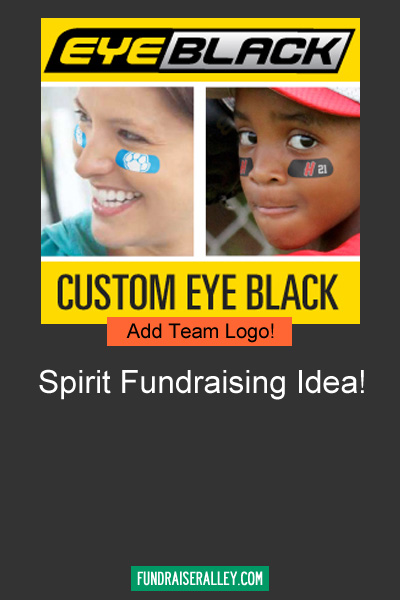 Custom Eye Black - Spirit Fundraising Idea