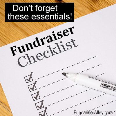 Fundraiser Checklist - Don't Forget These Essentials