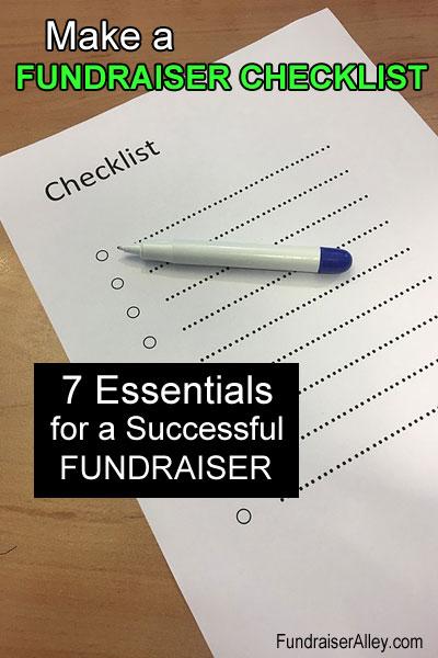 7 Essentials for a Successful Fundraiser