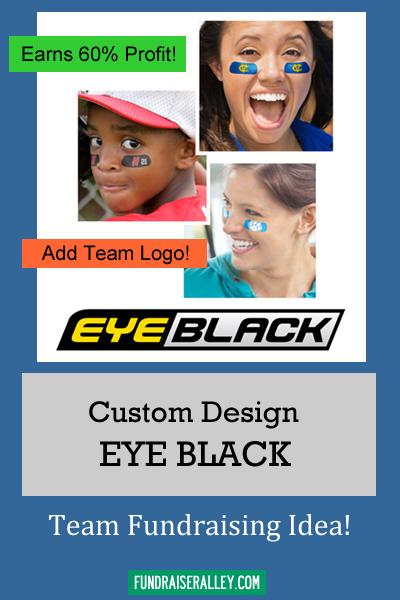 Custom Eye Black Fundraiser - Sports Team Fundraising Idea - 60% Profit