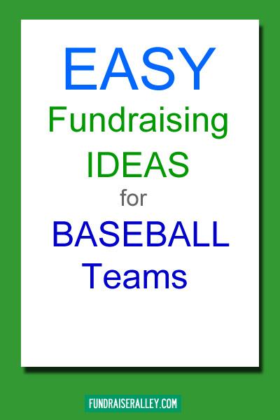 Easy Fundraising Ideas for Baseball Teams