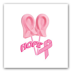Pink Ribbon Hope Lollipops