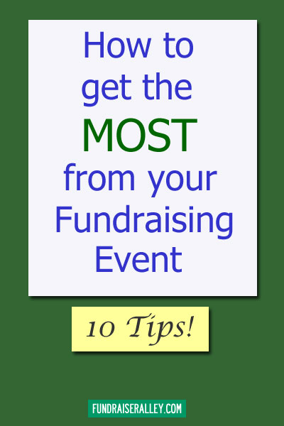 How to Get the Most From Your Fundraising Event