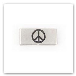 Peace Symbol Tag