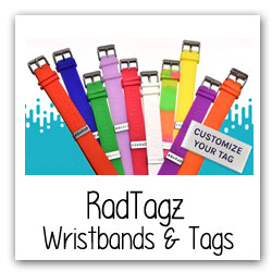 Radtaz Wristbands and Tags