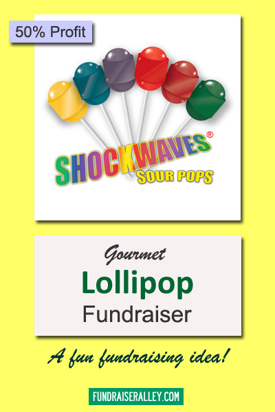 Shockwaves Sour Lollipops for Fundraising