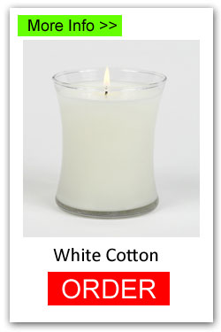White Cotton Scented Candles for Fundraising - Order Online