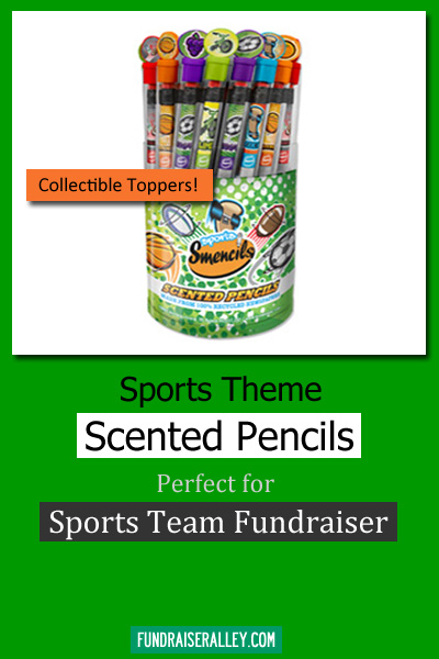 Sports Theme Scented Pencils - Perfect for Sports Team Fundraiser