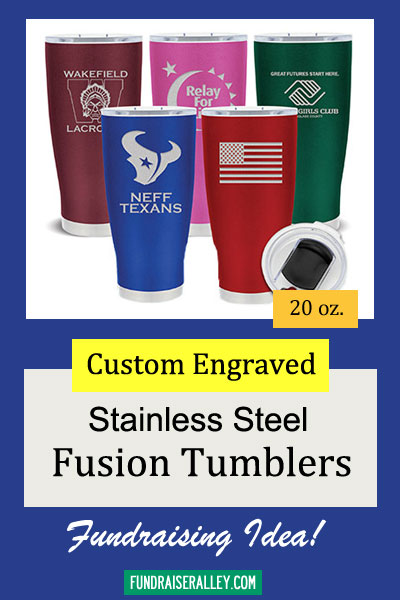 20oz Fusion Custom Stainless Steel Tumblers for Fundraising