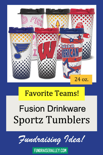 24oz Sportz Tumblers for Fundraising