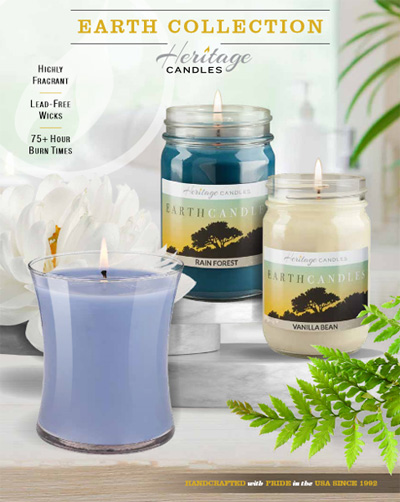 Heritage Candles, Earth Collection, Brochure Fundraiser