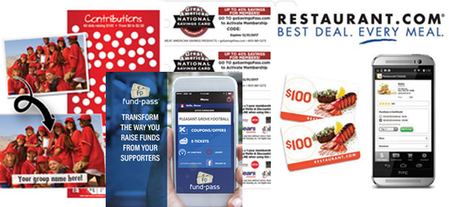 Fundraising Discount Cards: Scratchcards, Restaurant Cards, National Savings Card, Fund-Pass