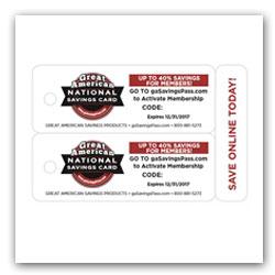 National Savings Card Fundraiser