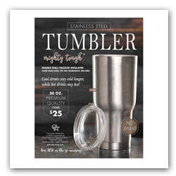 Stainless Steel Tumblers Fundraiser