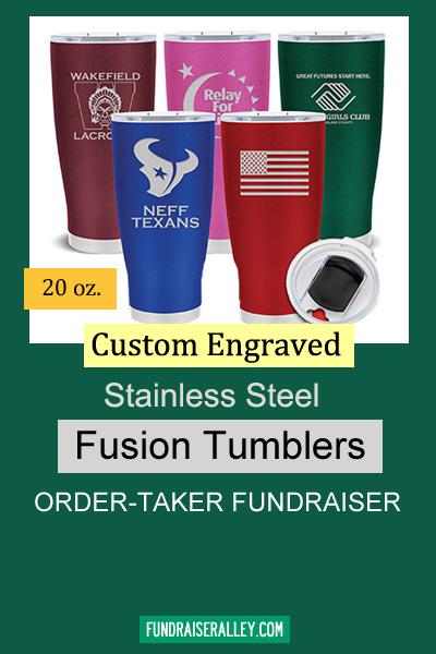 Custom Engraved Stainless Steel Fusion Tumblers Order-Taker Fundraiser