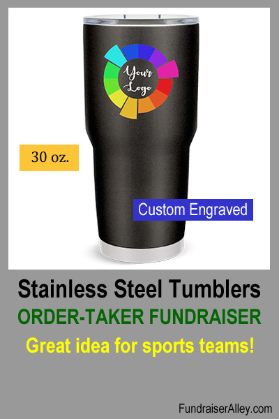 Stainless Steel Tumblers Order-Taker Fundraiser - Great Idea for Sports Teams