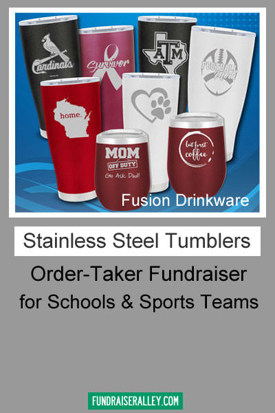 Fusion Drinkware Stainless Steel Tumblers Order-Taker Fundraiser