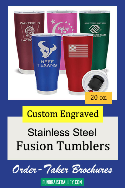 20oz Fusion Stainless Steel Custom Tumbler Order-Taker Brochures