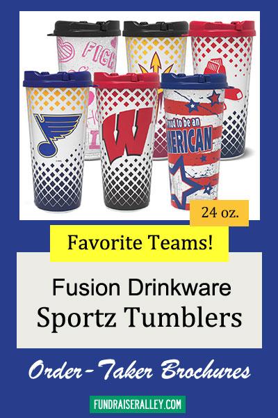 24oz Fusion Sportz Tumblers Order-Taker Fundraiser