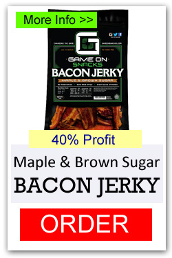 Game On Bacon Jerky - Maple and Brown Sugar